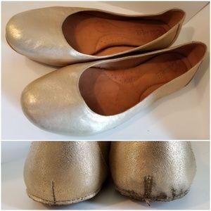 Born Crown Split Sole Gold Metallic Ballet Flats 9